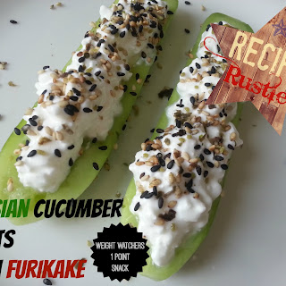 Persian Cucumber Boats with Furikake – Weight Watchers Friendly