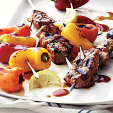 Pork and Sweet Pepper Kebabs