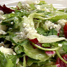 Salad of Mesclun Greens with Dried Cranberries, Mascarpone Dumplings and Champagne Vinaigrette