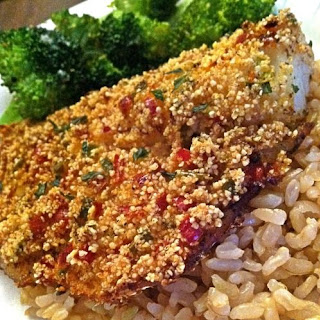 Spicy Millet Crusted Baked Cod