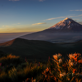 Just in the morning by Cristobal Garciaferro Rubio - Landscapes Travel ( volcano, sunrise, morning, smoking smoking volcano )