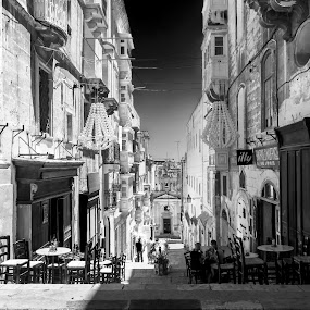 Valletta-Malta by Lino Chetcuti - City,  Street & Park  Markets & Shops