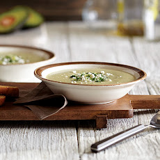 Avocado Bean Soup with Fresh Herb Relish
