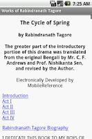 Screenshot of Works of Rabindranath Tagore