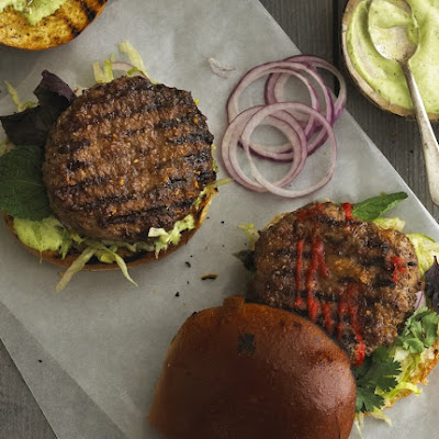 Saigon Burgers with Ginger Glaze and Thai Basil Mayo