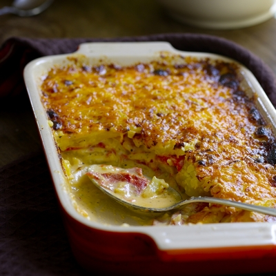 Pimento Cheese Potato Gratin