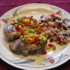 Grilled Chicken With Corn and Sweet Pepper Relish