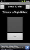 Screenshot of Single N-Back