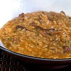 Tasso and Smoked Shiitake Mushroom Risotto