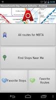 Screenshot of MBTA: AnyStop