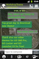 Screenshot of GO SMS Theme UFO Alien