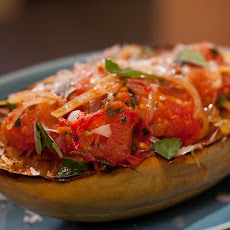 Spicy Roasted Tomato Marinara with Spaghetti Squash