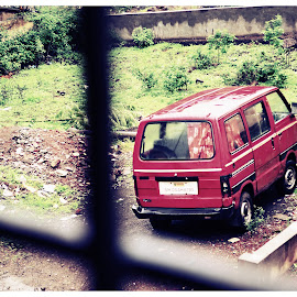 Standing Alone by Avinash Pingale - Transportation Automobiles ( car, old, old car, automobile, balcony,  )