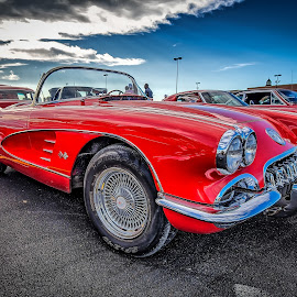 Little Red Corvette by Ron Meyers - Transportation Automobiles