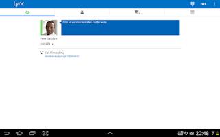 Screenshot of Lync 2013