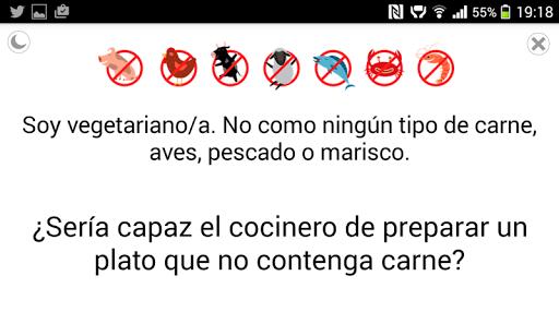 Vegetarian Travel Translator - screenshot