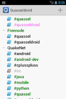 Screenshot of Quasseldroid