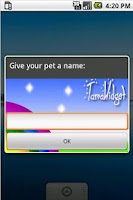 Screenshot of TamaWidget Dinosaur