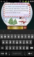 Screenshot of GO SMS Pro Snowlove Popup them