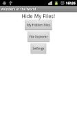 Screenshot of HideMyFiles - Hide & Protect