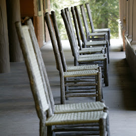 Porch Chairs by Ian McAdie - Artistic Objects Furniture ( chair, wicker, nature, relax, seat, cottage, comfort, deck, porch )