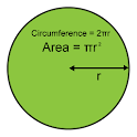 Circumference & Area of Circle icon