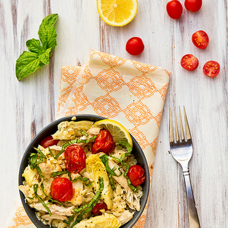 Lemony Orzo with Chicken and Roasted Tomatoes Recipe | Yummly