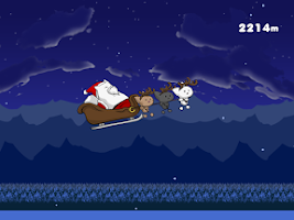 Screenshot of Flying Santa Cat