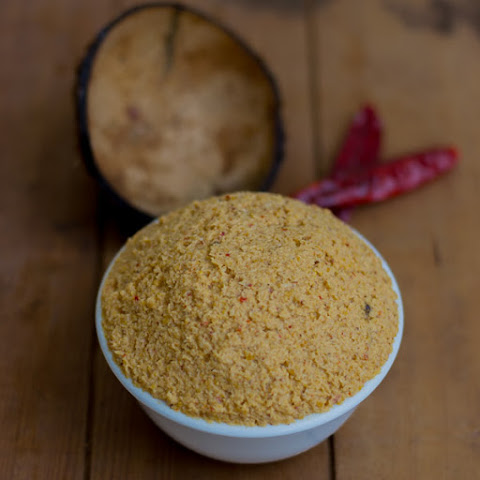 Spicy Thengai Thogayal / Coconut Chutney For Rice