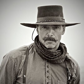 Muleman by Linda Pierson - People Portraits of Men ( cowboy )