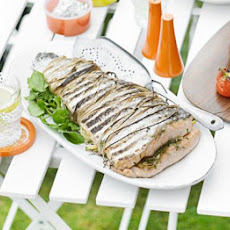 BBQ salmon fillet with lemon & dill