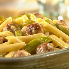 Cheddar Penne with Sausage and Peppers