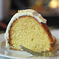 Eggnog Bundt Cake with Eggnog Buttercream