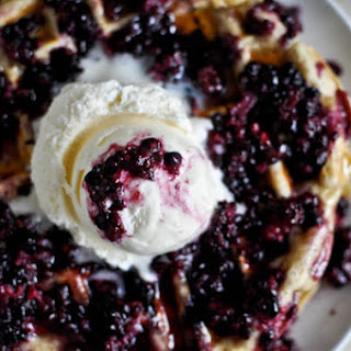 Blackberry Cobbler Waffles