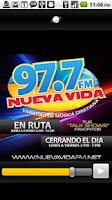 Screenshot of 97.7 Nueva Vida