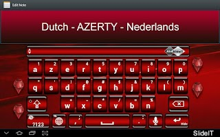 Screenshot of SlideIT Dutch AZERTY Pack