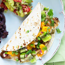 Beer-Glazed Fish Tacos with Kiwi-Mango Salsa