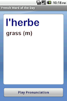Screenshot of French Word of the Day