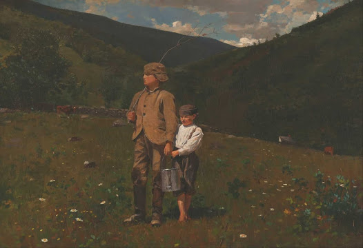 The most popular childhood subject of the postwar era was the country boy, who symbolized America's lost innocence and provided a vicarious escape from the harsh realities of modern urban life.