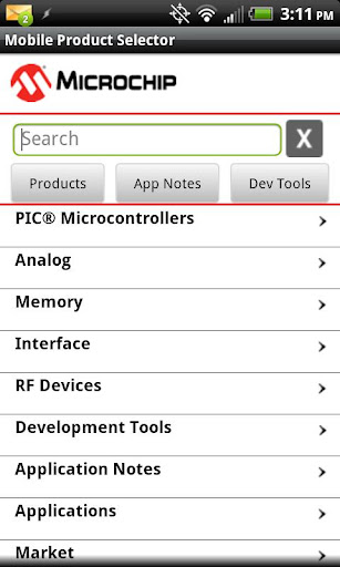 Mobile Product Selector