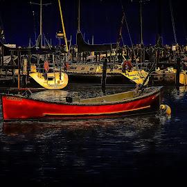 Milwaukee Harbor by Ron Meyers - Transportation Boats
