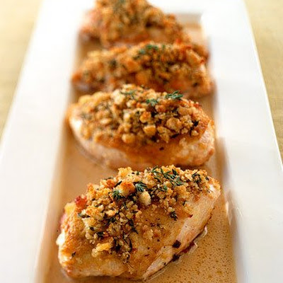 Crisp Mustard-Glazed Chicken Breasts