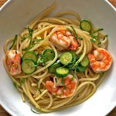 Dinner Tonight: Linguine with Shrimp and Baby Zucchini