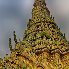 14th century old by Radu Eftimie - Buildings & Architecture Architectural Detail ( bangkok, wat pho temple )