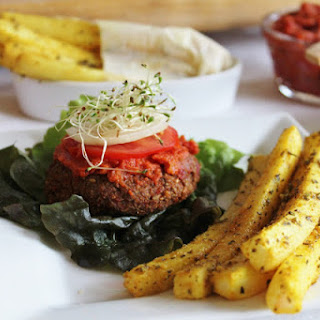 Raw Yam Burgers & Daikon Fries With Ketchup