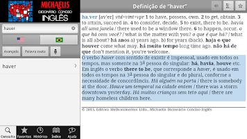Screenshot of Michaelis Conciso Inglês