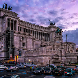 National Monument to Victor Emmanuel II by Adeline Tan - Buildings & Architecture Other Exteriors ( building, rome, architecture, italy, dusk,  )