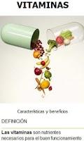 Screenshot of Nutrición