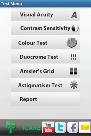 【免費醫療App】ICARE VISION TEST-APP點子