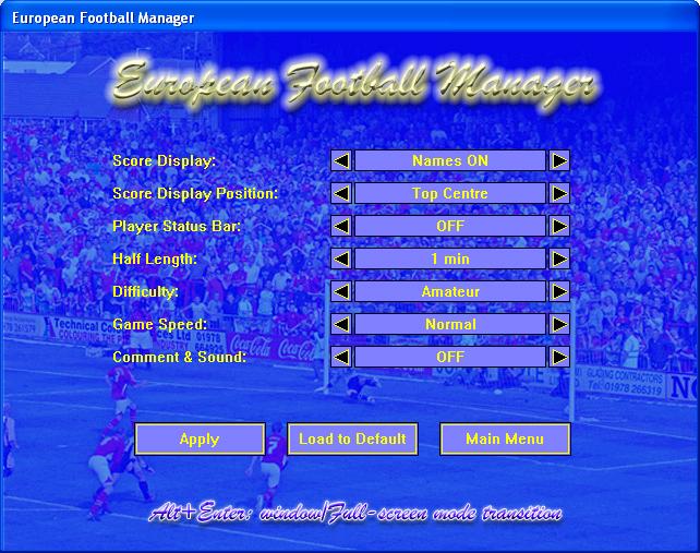 European Football Manager